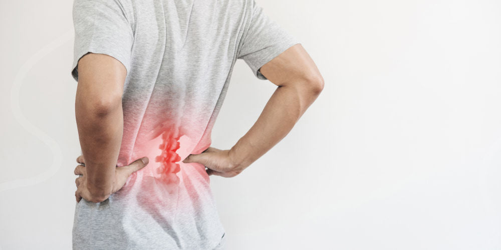So, injury of the lumbar and sacral spine is expressed by the following symptoms